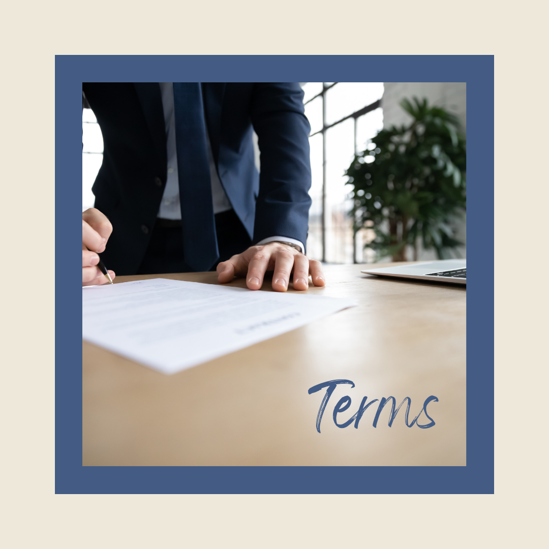 terms in a agreement to purchase or sell a home